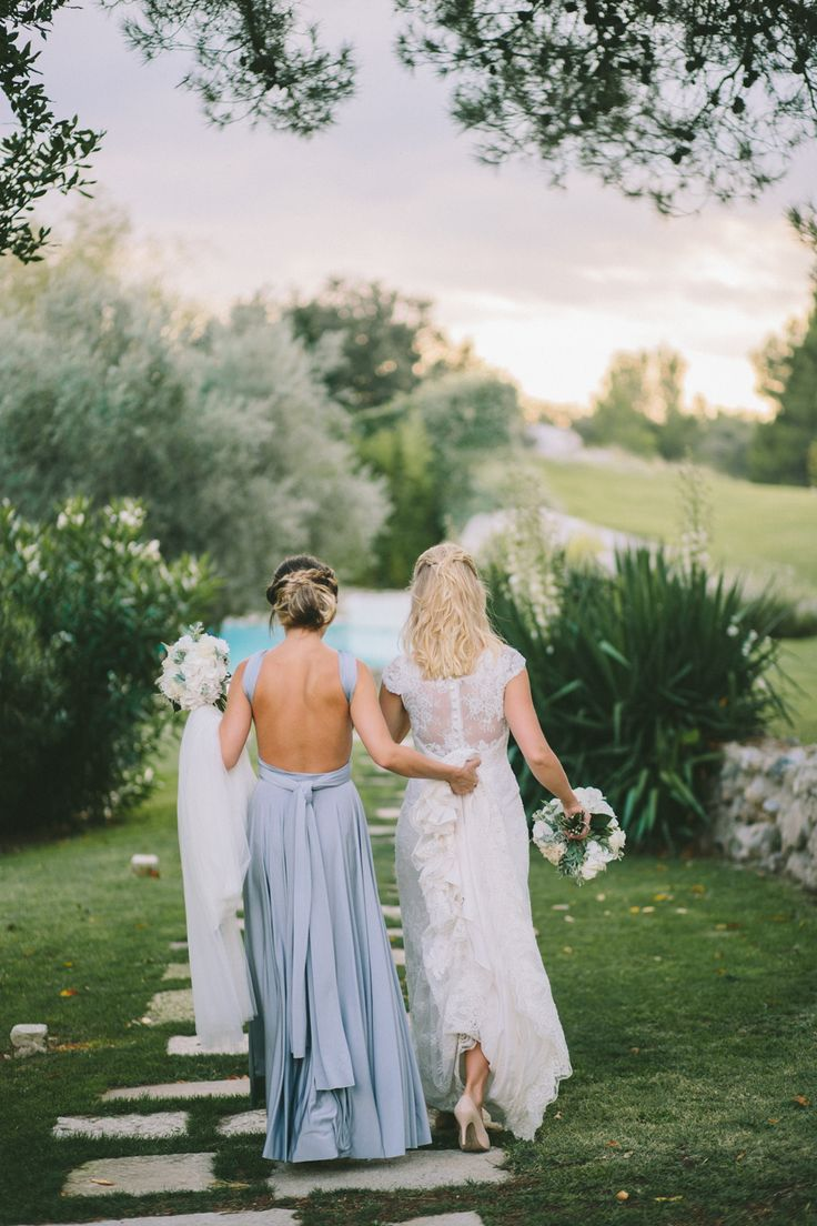 Backless Platinum grey Ballgown | twobirds Bridesmaid Dresses | A beautiful wedding featuring our multiway, convertible dress | Photography: M and J Photography | As featured on Rock My Wedding