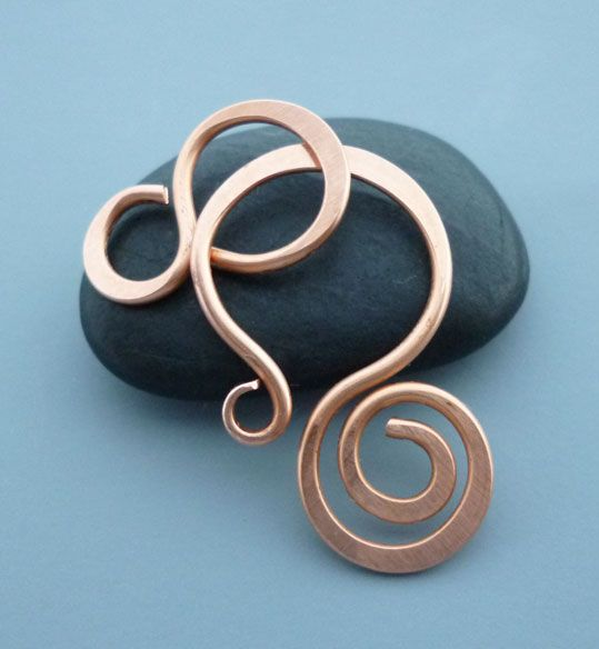 Copper Spiral Clasp with Figure 8 Connector