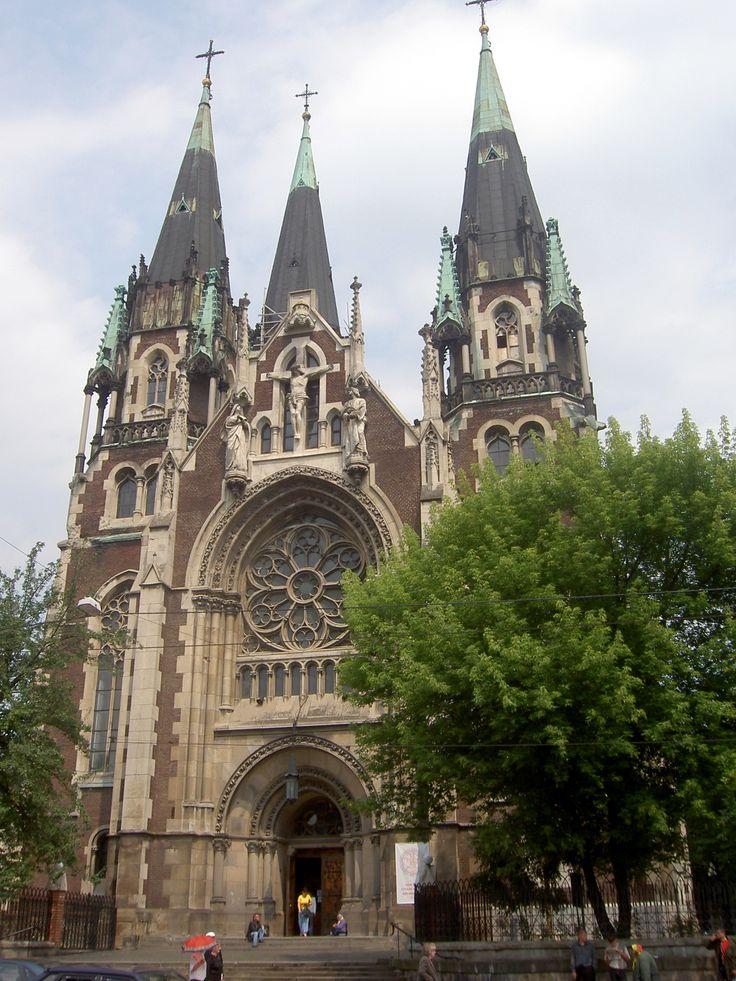 Lwów pl. Kropiwnickiego 1, Kościół św. Elżbiety, zbudowany 1911, architekt Teodor Marian Talowski