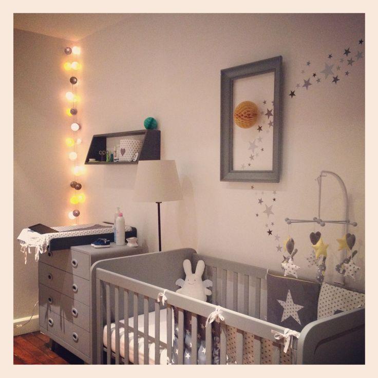 Kinderzimmer mit Sternen. Bild mit wandtattoo kombinieren