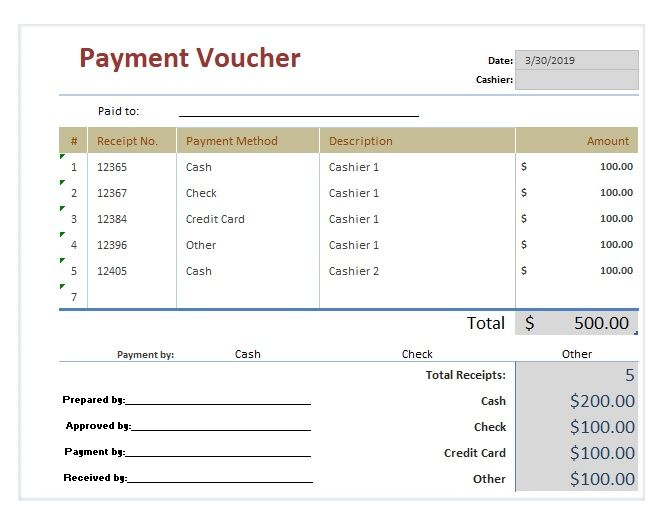 Payment Voucher Templates 17 Free Printable Word Excel Pdf