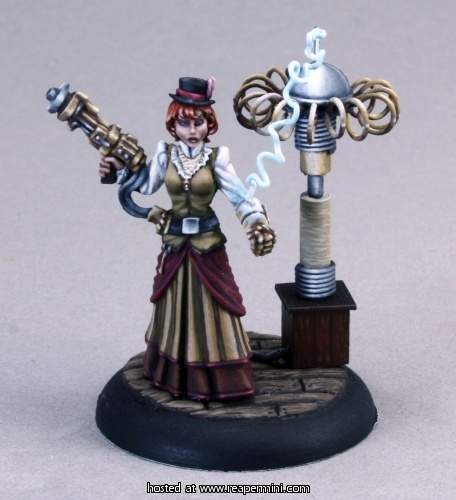 Reaper Miniatures : Mad scientist (female) | mini sculpted by Bob Ridolfi