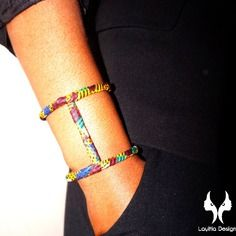 www.cewax.fr aime Bracelet manchette kentone : bijoux en kente (pagne africain)