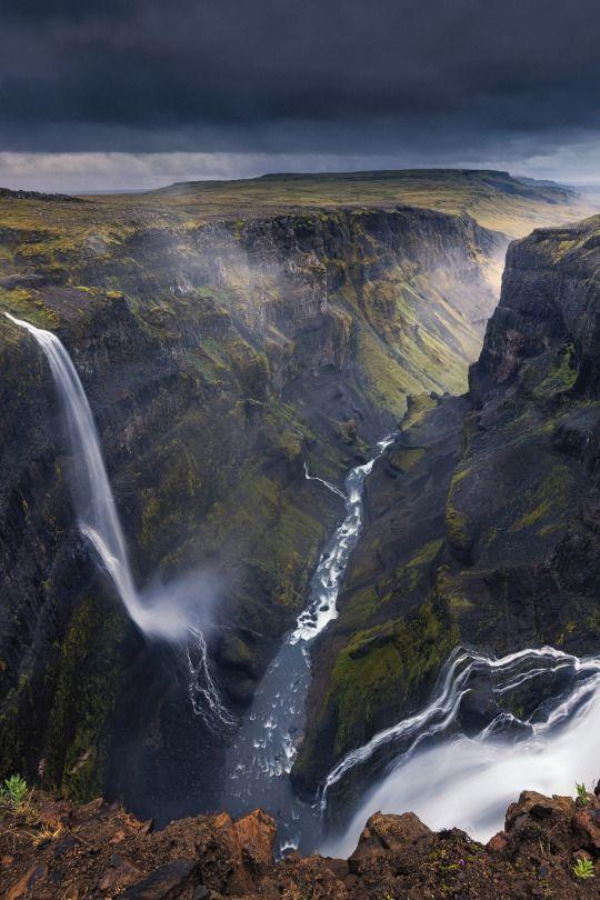 124m Haifoss waterfall - Iceland