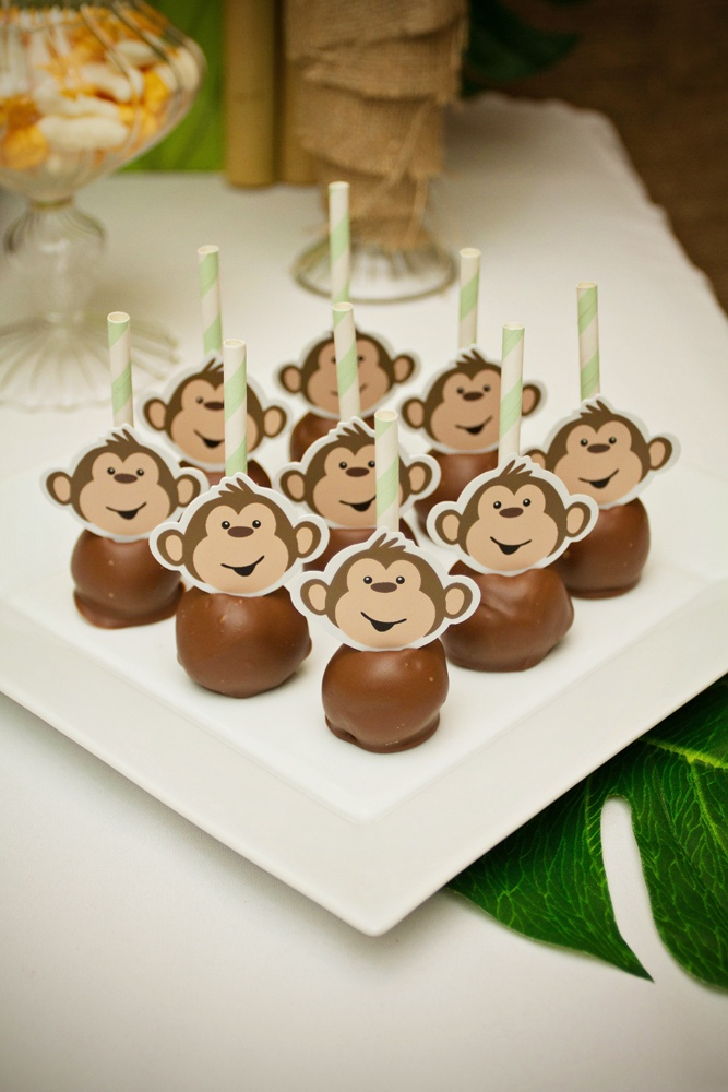 My son Ethan's 5th Birthday Party - Monkey Jungle Theme, oreo pops yum! Party styled by Piece of Cake Parties & Celebrations. Photography by Lightbox Photography.