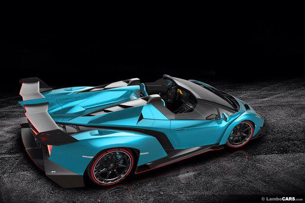 Lamborghini Veneno red and blue