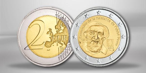 Frankreich 2 Euro Sondermünze Abbé Pierre 2012