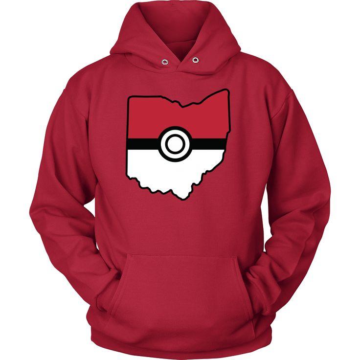 Pokemon USA American State Unisex Hoodie T Shirt - TL00623HO