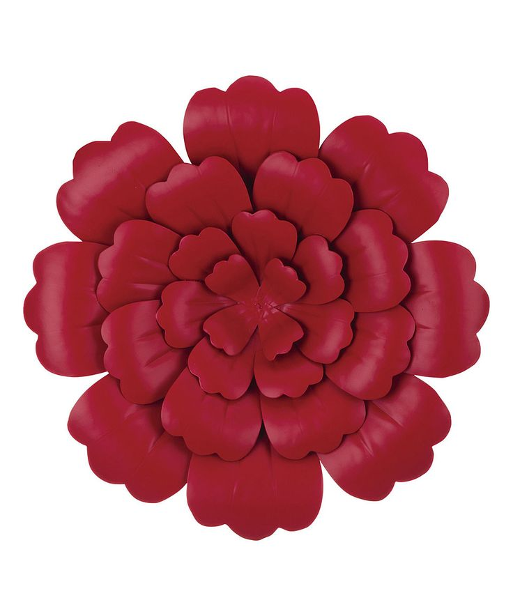 Take a look at this Red Metal Flower Wall Art today!