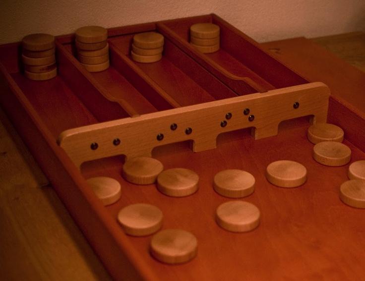 """Sjoelen, """"Dutch Shuffle Board."""""""