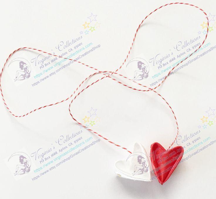 "Martishor cord amulets "" Little Heart""/ Snur de martisor "" Inimioara"""