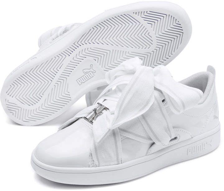 PUMA Smash v2 Patent Buckle Sneakers JR
