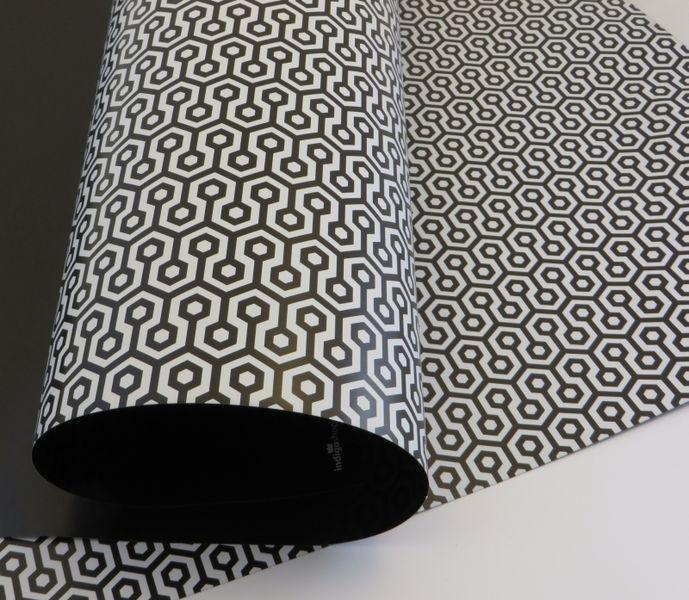 sided geschenkpapier schwarz wei sechs von bercadeau auf paper pattern. Black Bedroom Furniture Sets. Home Design Ideas