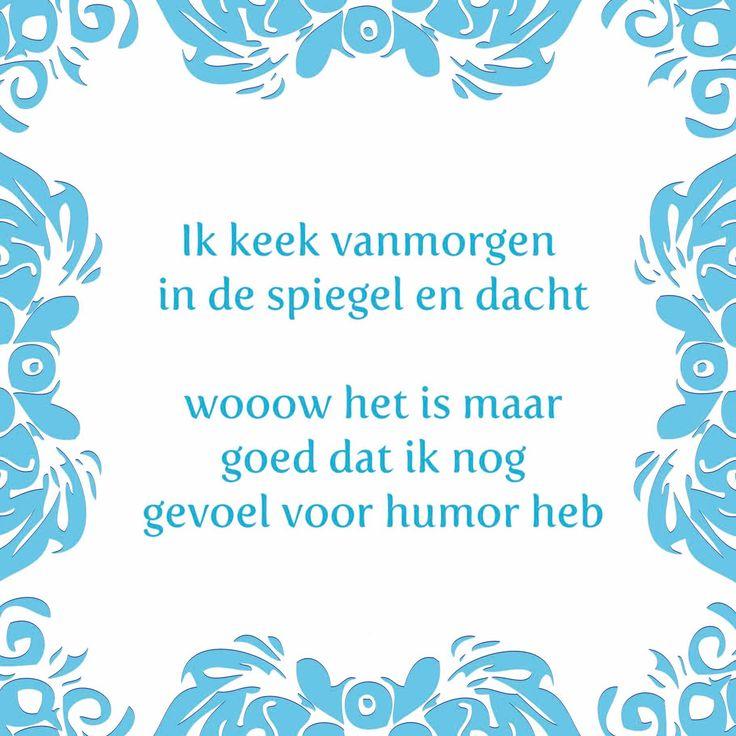 Tegeltjeswijsheid.nl - een uniek presentje - Ik keek vanmorgen in de spiegel