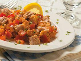 Salade de pain grillé et de thon      Clover Leaf