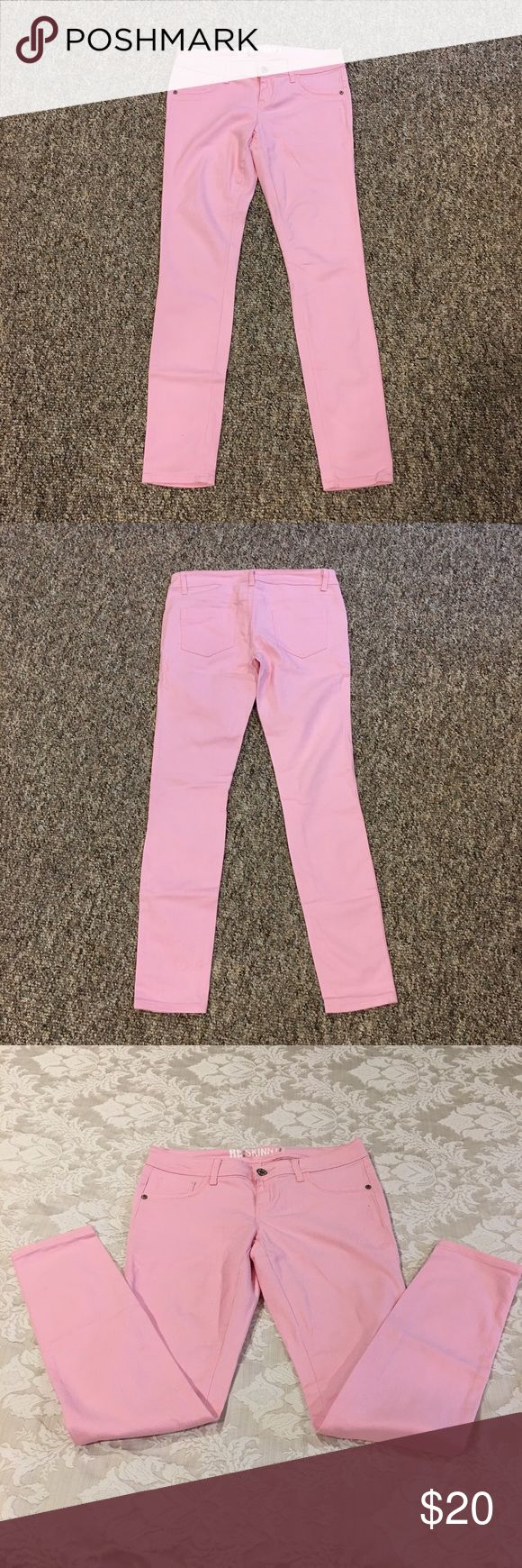 """Pale Pink Skinny Jeans Pale Pink Skinny Jeans - worn once - European size 36 which is a US 6 - 31"""" inseam. Jeans Skinny"""