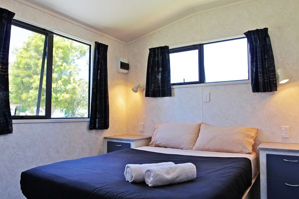 Bungalow | Russell - Orongo Bay Holiday Park One of the two double bedrooms the bungalow has to offer, all linen and towels are provided.