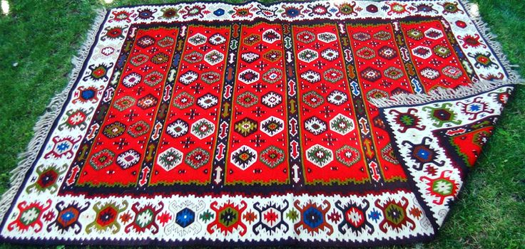 Pirot kilims are flat tapestry-woven traditional carpets or rugs produced in the Balkan mountains region in town of Pirot,Serbia.Pirot kilims with some 122 ornaments and 96 different types have been protected by geographical indication in 2002. They are one of the most important traditional handicrafts in Serbia. In the late 19th century and up to the Second World War, Pirot kilims have been used as insignia of Serbian royalty.