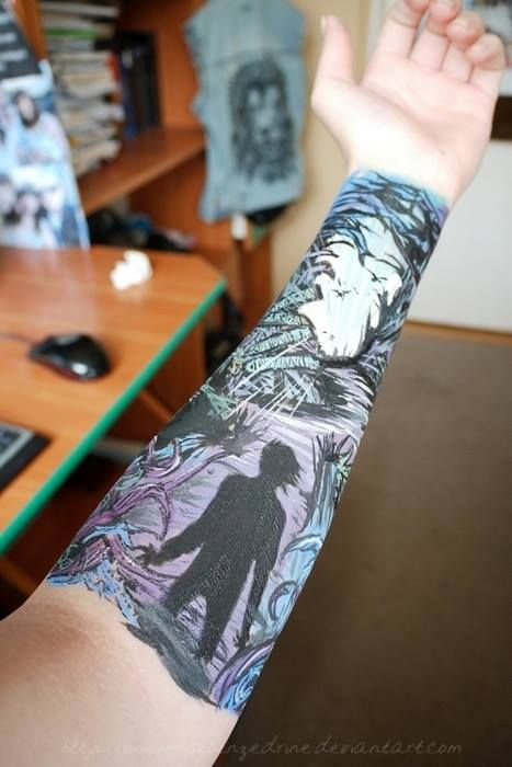 Look at this amazing A Day To Remember tattoo!!! This was the first sleeve I ever wanted to get...
