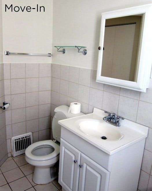 25 best ideas about bathroom before after on pinterest for Rental apartment bathroom ideas