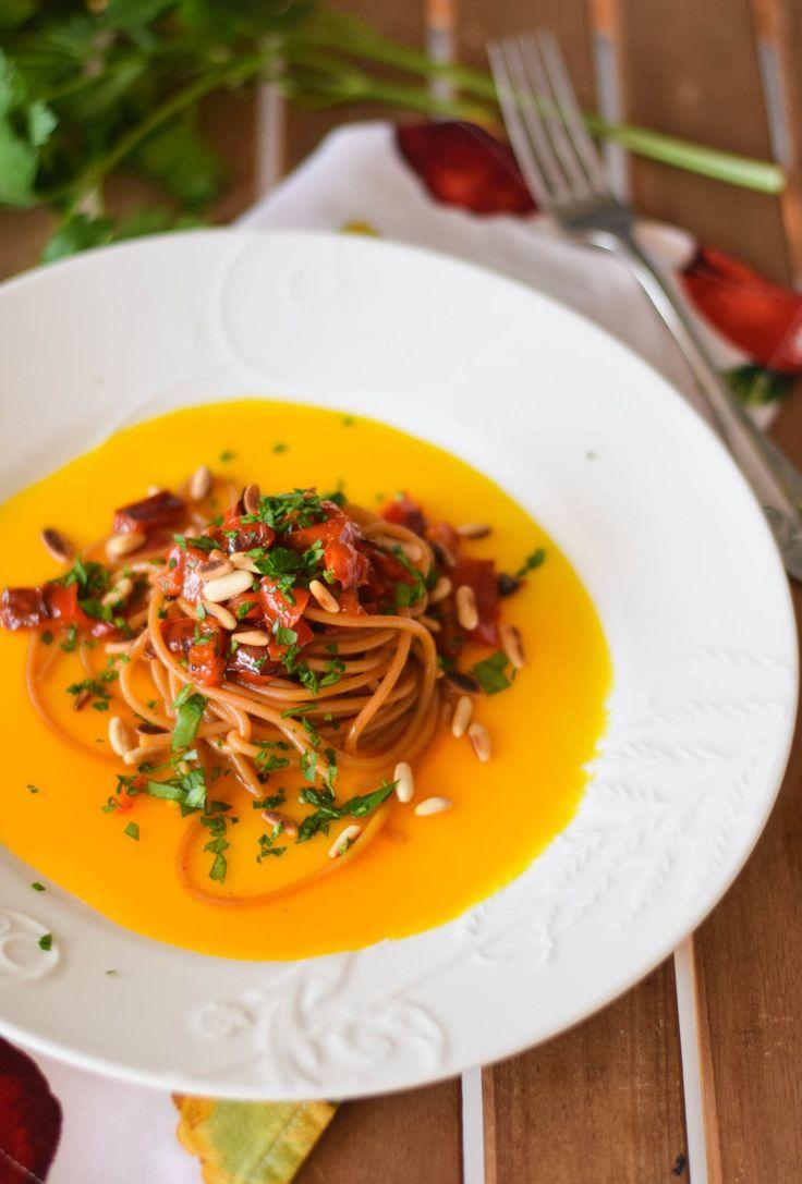 Spaghetti peperoni e zafferano-8