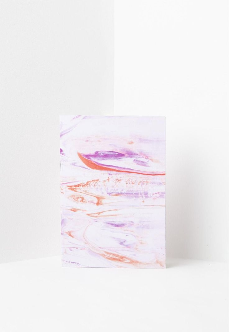 Missguided - Pink Marble Effect Notebook