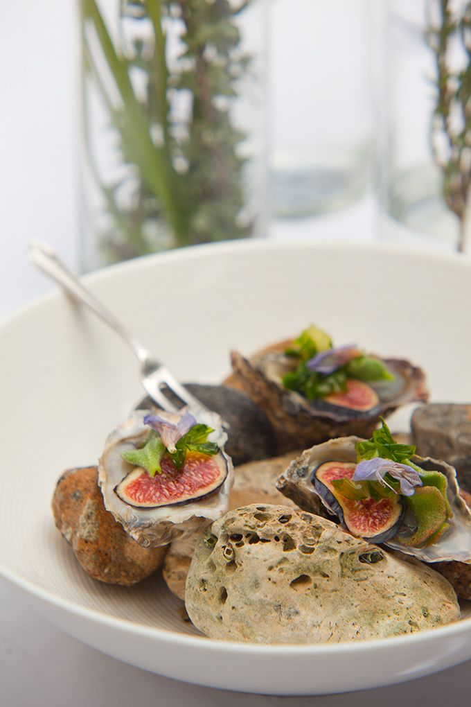West Coast Oysters with Swartland Fig - The Oep ve Koep Bistro way - Paternoster - West Coast - South Africa