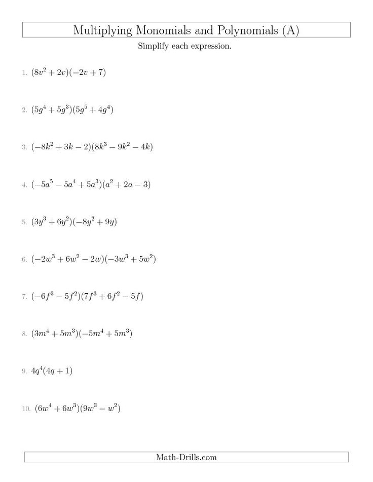 math worksheet : 101 best wiskunde images on pinterest  math worksheets drills  : Multiplication Of Monomials Worksheet