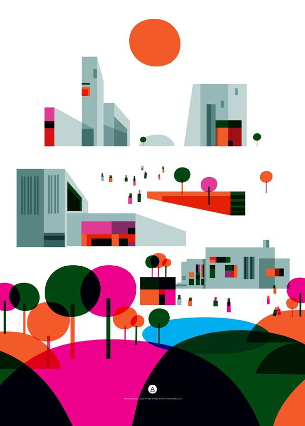 "Illustrations / ""City of the Future"" Illustrations for Prelios — Designspiration"