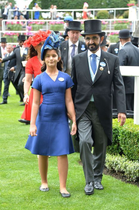 La Sheika Al Jalila et ses parents au Royal Ascot, le 22 juin 2017
