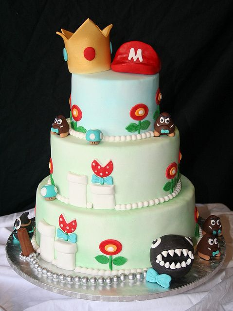 Mario And Princess Peach Wedding Cake