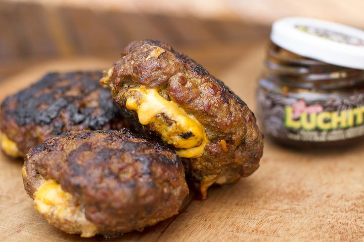 Cheese-stuffed smoked chilli juicy-Lucy beef burgers...It's surely just a question of when you'll give these a go!?
