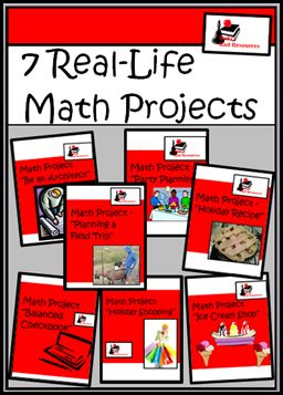 Math Projects For Your Classroom - 7 different math projects with real life applications.