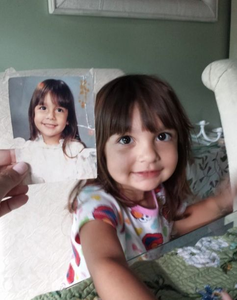 16 Amazing Side-By-Side Photos Of Kids And Family Members