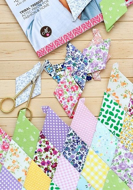 best English Paper piecing   Honeycomb quilts images on     TheDIYAddict