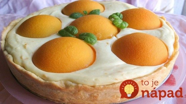 Fantastický broskyňovo-tvarohový koláč