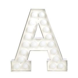 Seletti Vegaz Alphabet Letters Large light bulb letters for your home  Available at Heal's