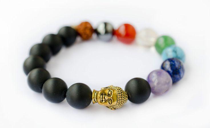Chakra Armband ☼ Buddha Yoga Armbandaus Steinen für die 7 Chakren