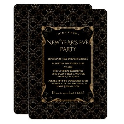 old hollywood black great gatsby new year party card gatsby rsvp and invitation ideas