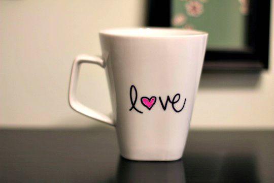 Resultado de imagem para love mug drawing