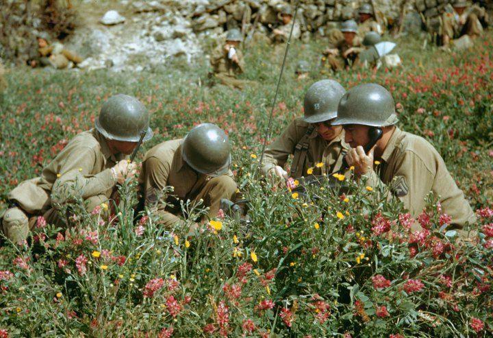 World War II in Color: The Italian Campaign and the Road to Rome, 1944 // ph. Carl Mydans, LIFE.com
