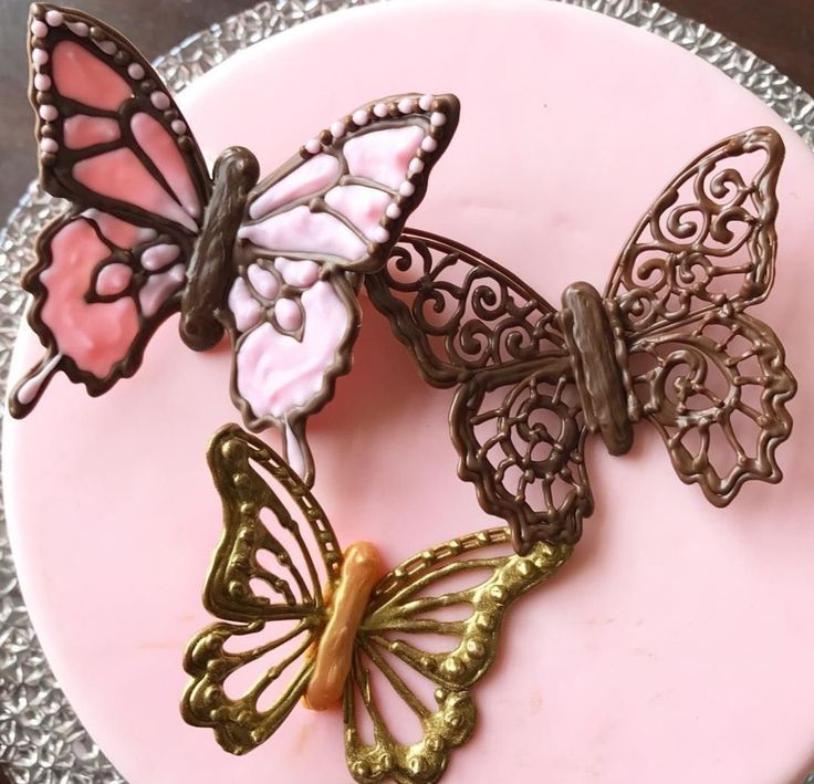 How to make chocolate butterflies using cooking chocolate for Chocolate filigree templates