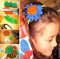¨°o.O Serre-tête Fleur en feutrine O.o°¨  Tutoriel de bricolage simple et rapide pour confectionner un joli accessoire à cheveux pour petite fille. Ce serre-tête Fleur tout en feutrine viendra mettre un peu de couleur et de fantaisie dans la chevelure des petites filles coquettes.  http://www.creamalice.com/Coin_conseils/1-loisirs_creatifs_2013/3-Tuto_Serre_tete_Fleur_feutrine/Tuto_DIY_Serre_tete_Fleur_feutrine.htm  www.creamalice.com