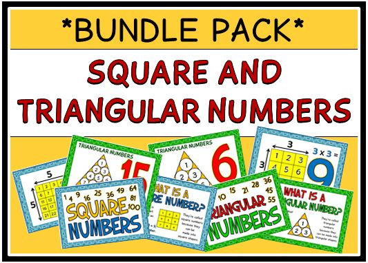 This bundle pack consists of 2 different sets of printables on square and triangular numbers – 24 pages in total. This bundle will save you OVER 20% - visit our TpT store for more information and for other classroom printable resources by clicking on the provided links.