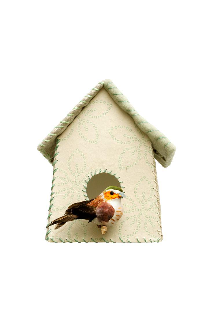 Studio Ditte muursticker Vogelhuisje groene bloemen | Lief en Klein