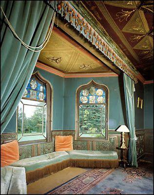 Horace Walpole's Dressing room, Strawberry Hill House. 18thC Gothic/Arabesque influences
