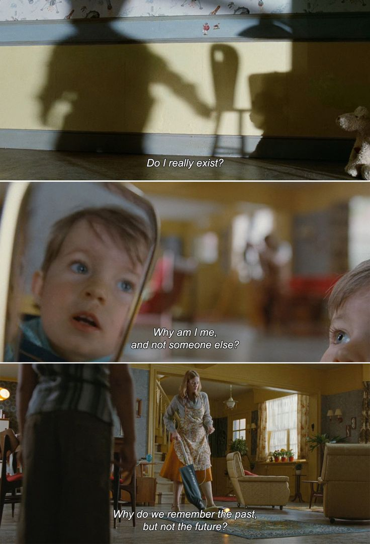 "anamorphosis-and-isolate: "" ― Mr. Nobody (2009) Nemo: Do I really exist? Why am I me, and not someone else? Why do we remember the past, but not the future? """