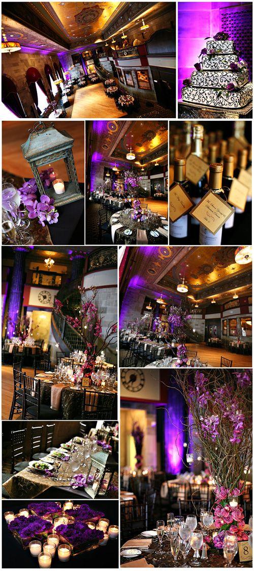 purple and black wedding