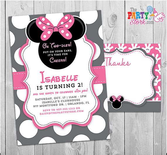 how to make your own minnie mouse birthday invitations