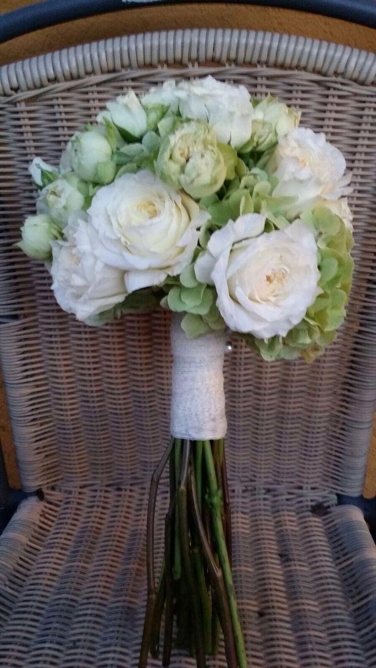#Ramos de novia con #hortensias y #rosas || Andaluflor.es
